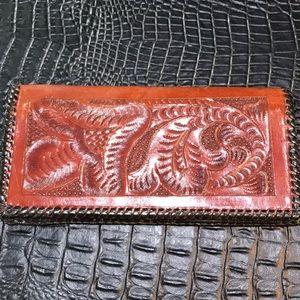 Vintage tooled wallet